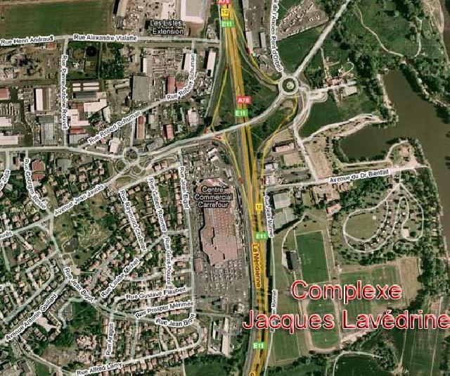 Plan satelite d'accès J. Lavédrine