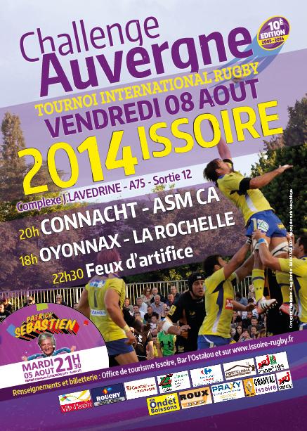 Flyer du Challenge Auvergne du 8 aout 2014 à Issoire (63)-01