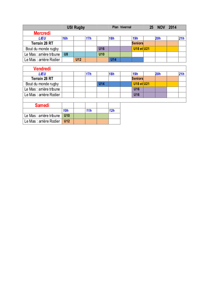 Plan hivernal USi Rugby 11-2014 Tableau