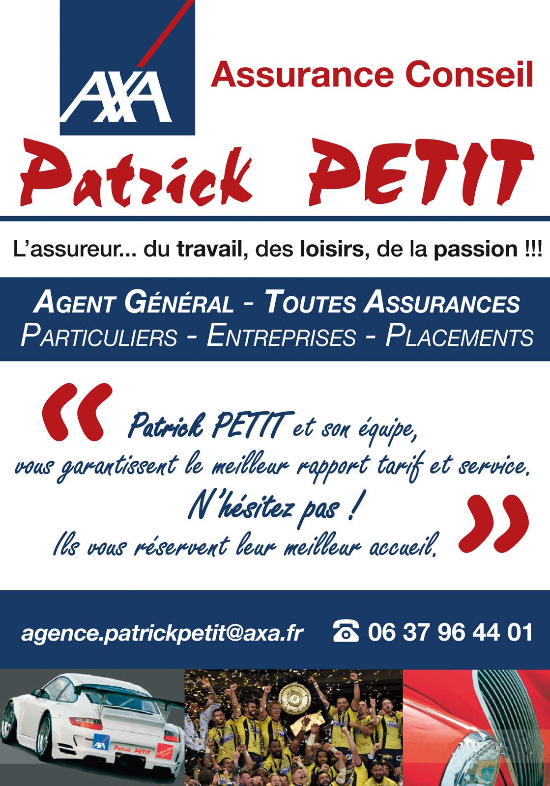 logo AXA Assurances - Agence Patrick Petit