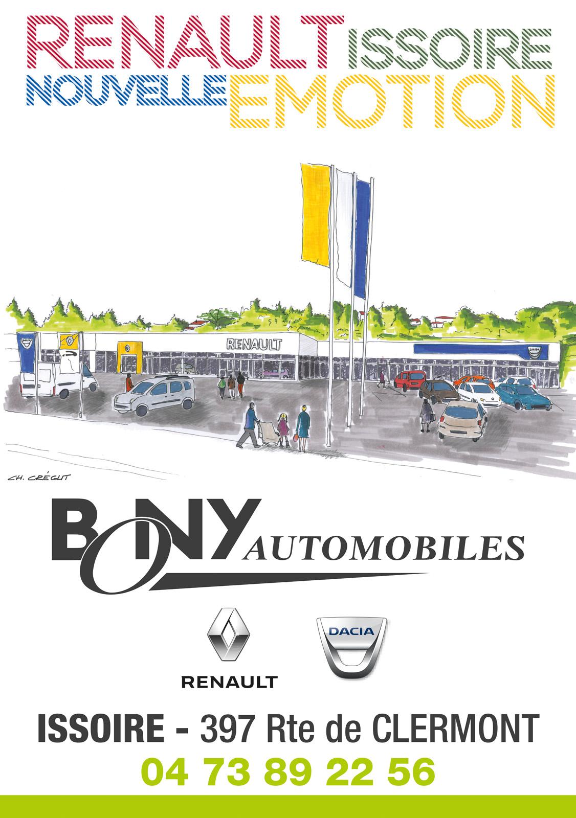 logo RENAULT BONY Automobiles Issoire