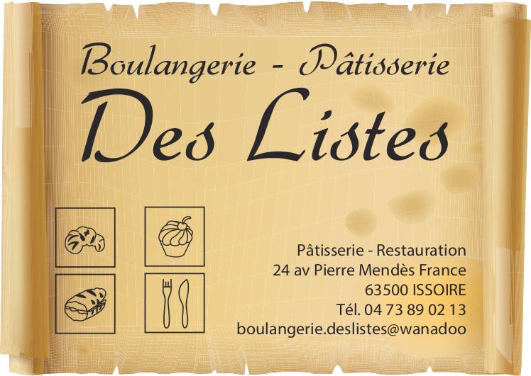 logo Boulangerie Patisserie des Listes