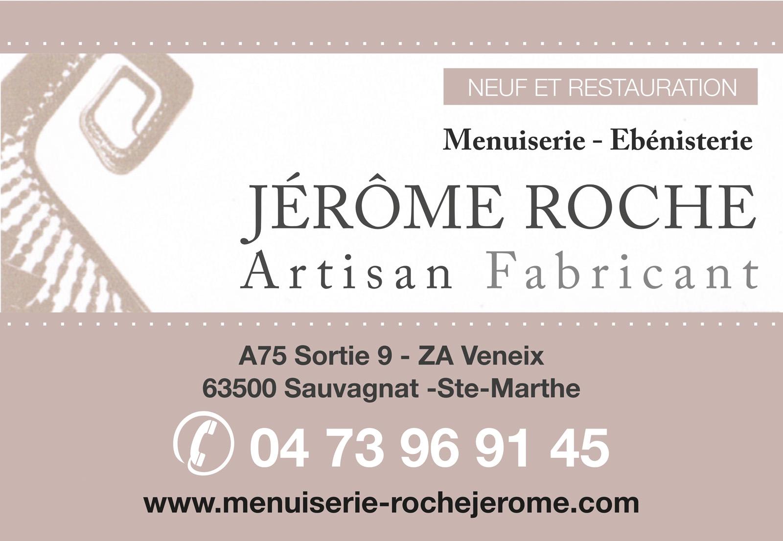 logo Menuiserie - Jêrome Roche Artisan Fabricant