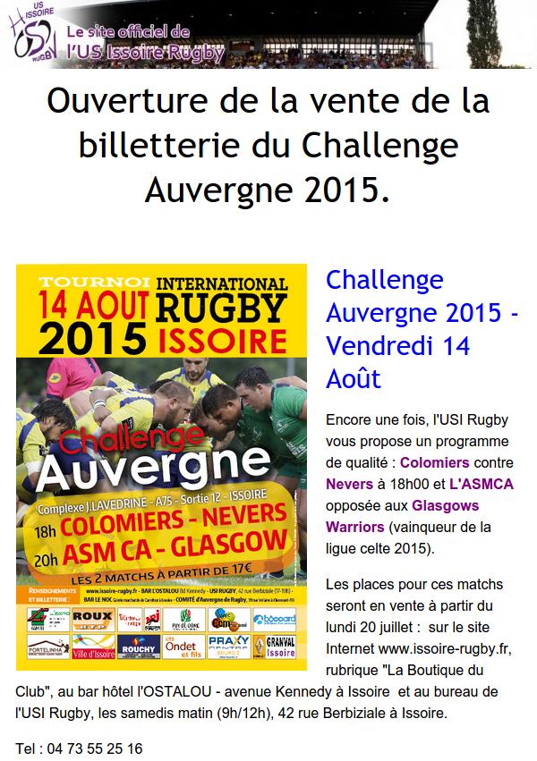 Présentation ChallengeAuvergne 2015