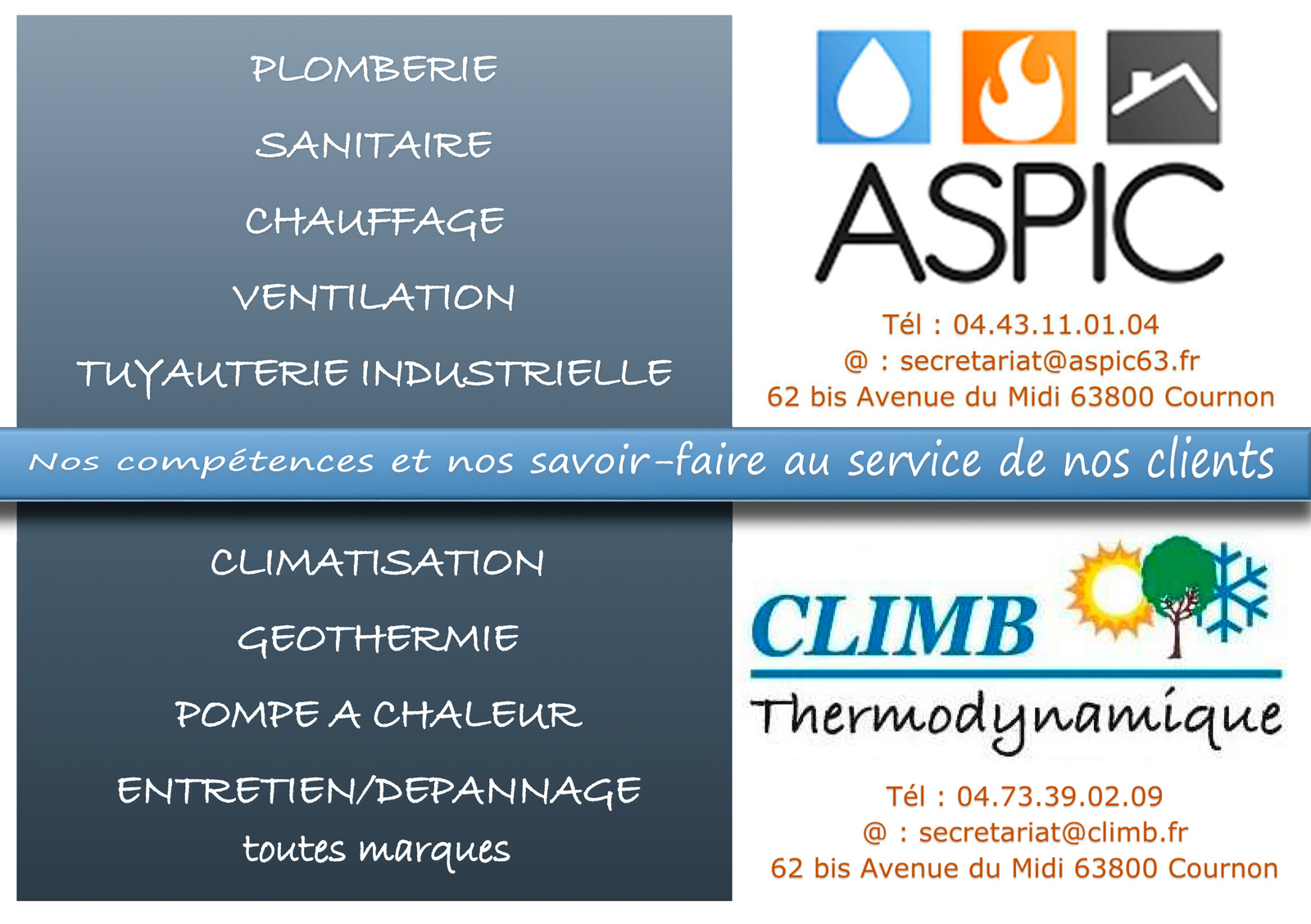 logo Aspic - Chauffage - Sanitaires