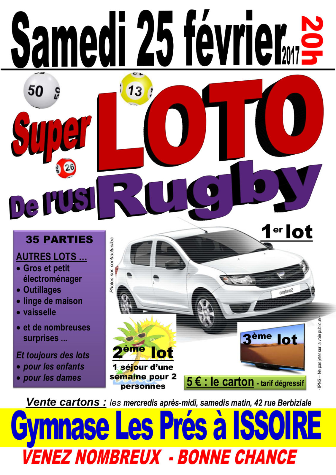 LOTO 2017 USI RUGBY