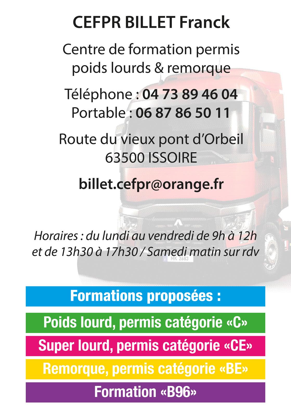 logo CEFRP Billet Auto Ecole