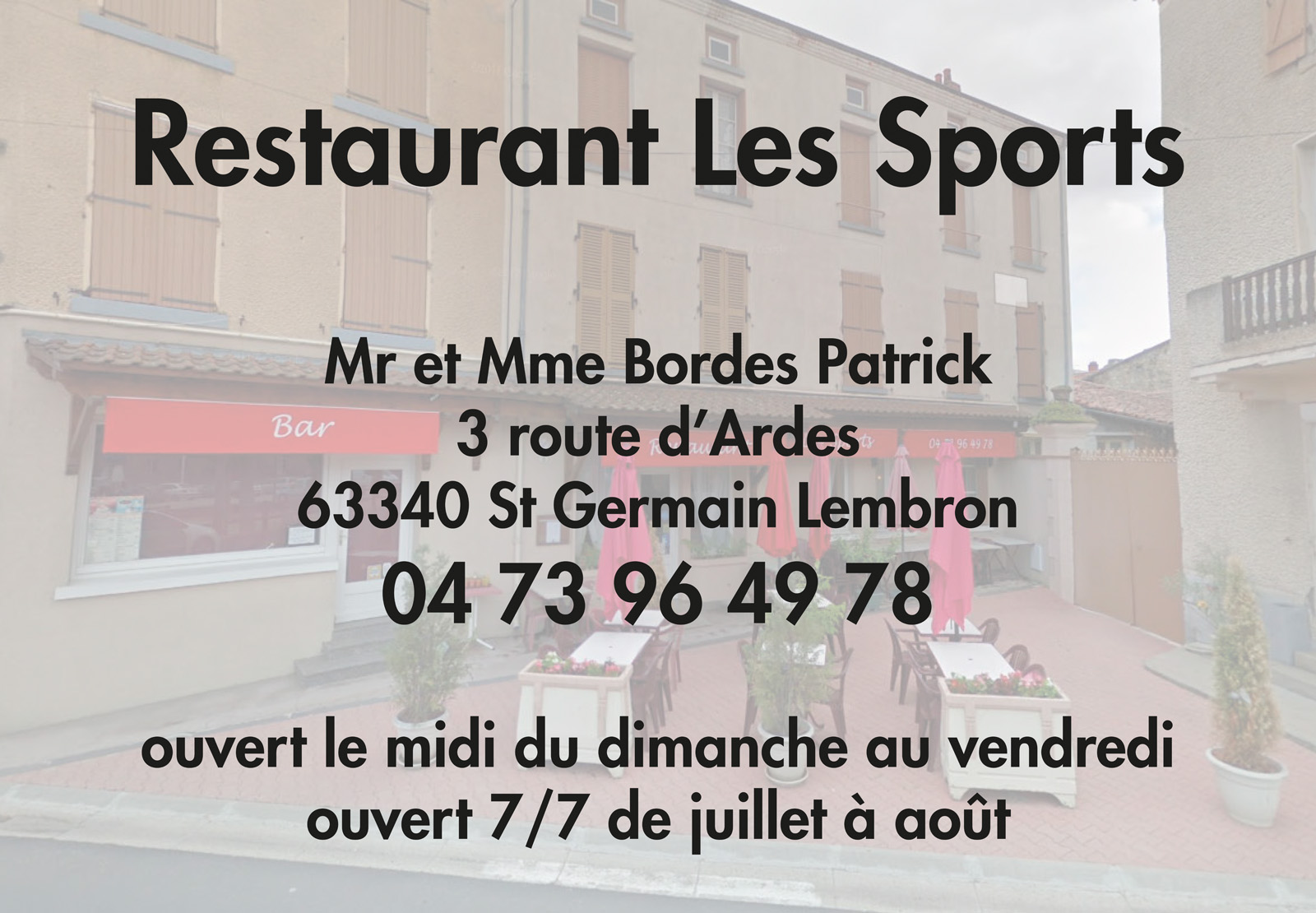 logo Restaurant Les Sports