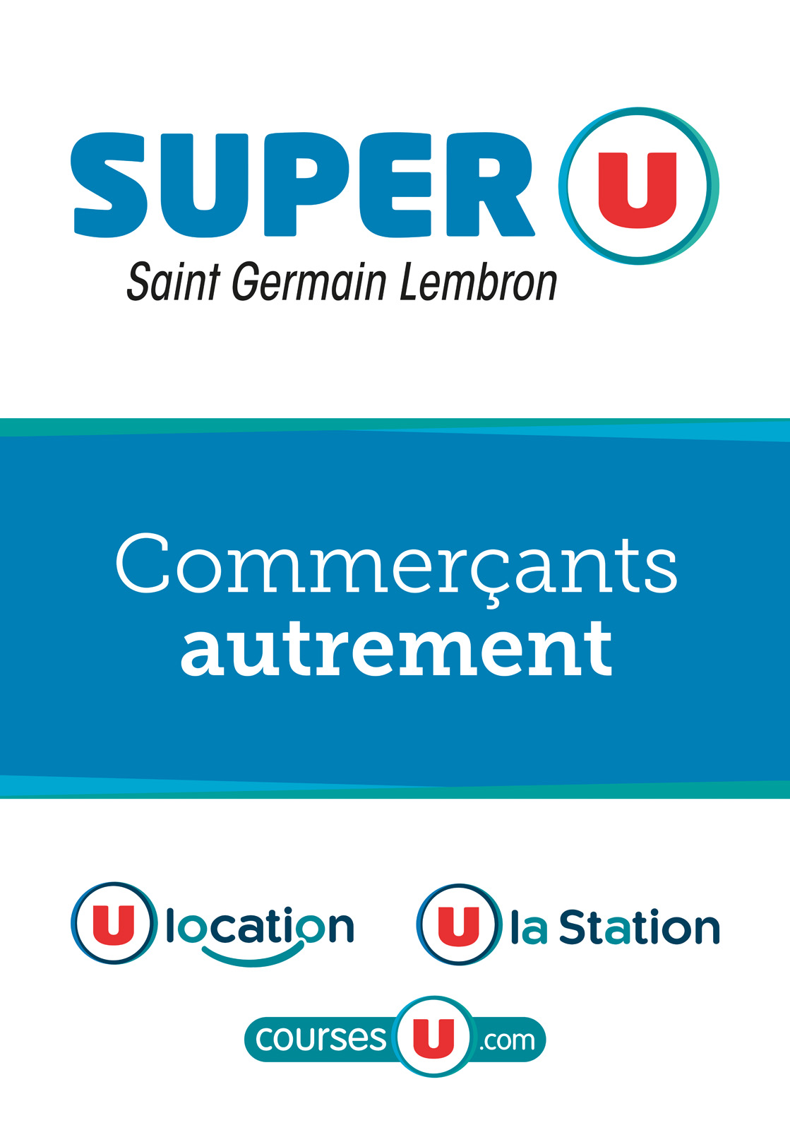logo Super U Saint Germain Lembron