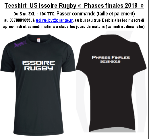 Flyer Vente teeshirt Phases Finales 2019